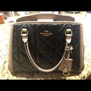 Coach authentic black and tan small tote bag.